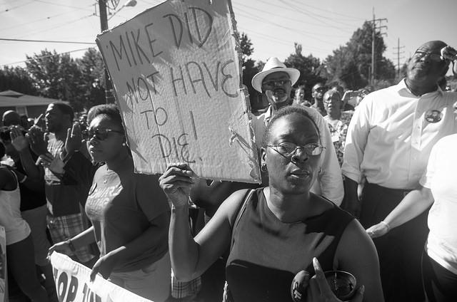 Proteste gegen Polizeigewalt in Ferguson im August 2014