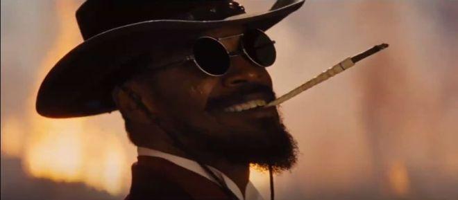Django Unchained Jamie Foxx lacht