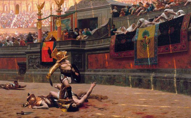 Lange lebe der Tod: Das galt auch schon für die Römer (Pollice Verso von Jean-Léon Gérôme 1872) Casper