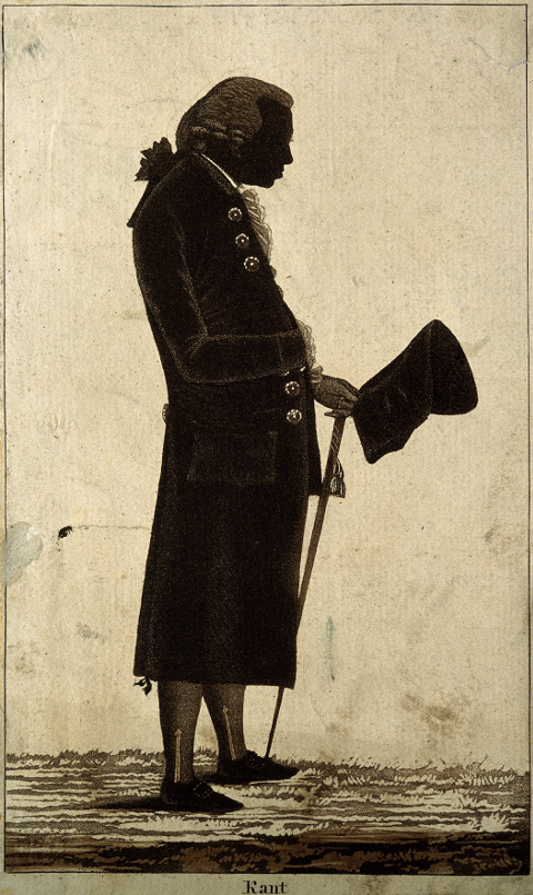Aufklärer und Rassist?, wie geht das Zusammen? <strong>Kants</strong> Silhouette<br /> Credit: Wellcome Library, London. Wellcome Images<br /> images@wellcome.ac.uk<br /> http://wellcomeimages.org<br /> Creative Commons Attribution only licence CC BY 4.0 http://creativecommons.org/licenses/by/4.0/